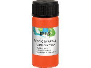 Mramorovací barva MAGIC MARBLE č.04 - 20ml oranžová