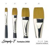 Štětec Simply-T Fontaine - plochý, č. 6