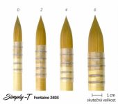 Štětec Simply-T Fontaine - quill, č. 0 (8,7 mm)