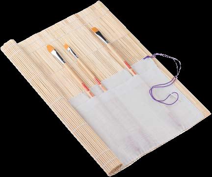 Bambusový obal na štětce - 330 x 330 mm