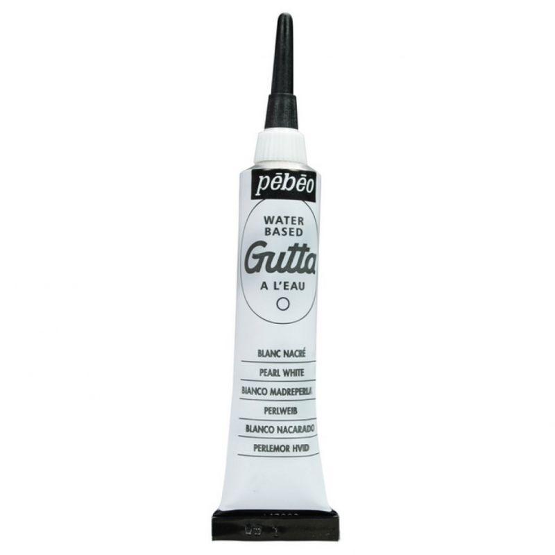 č.002 - Gutta č.2 - 20ml perleťově bílá (Pébéo)