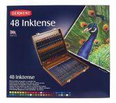 Inktense - sada akvarelových pastelek - dřevěný kufřík, 48ks