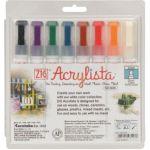 Akrylové fixy Acrylista Broad Tip (Kuretake) hrot 6mm - sada 8ks Sada A
