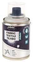 Barva na textil ve spreji (Pébéo) - 100ml Stříbrná