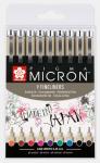 Pigma Micron 05 (0,45 mm) - barevná sada 9 ks