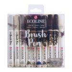 RT Ecoline Brush Pen X10 Greys