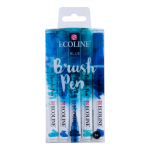 RT Ecoline Brush Pen X5 Blue