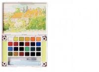 Sada akvarelových barev s vodním štětcem Koi 24ks