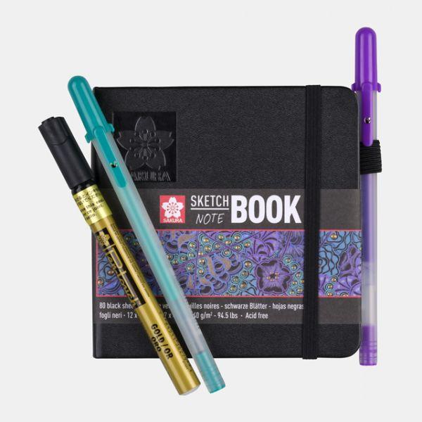 Sakura Sketch Notebook s černým papírem 140g