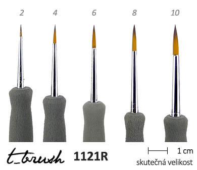 Štětce T- brush Transparent 1121R - kulaté