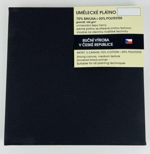 Plátno bavlněné napnuté CZ - černé