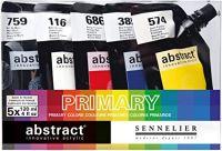 Sada akrylových základních barev ABSTRACT  (Sennelier) - 5x120ml
