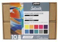 Sada barev na hedvábí - Setasilk (Pebeo)  -  12x20ml