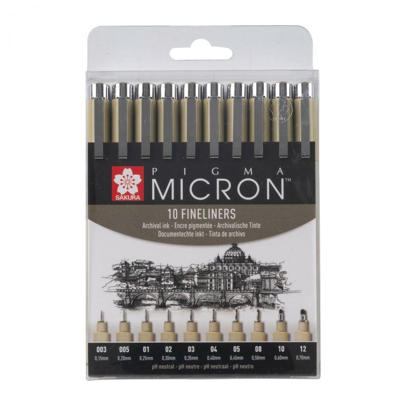 Sada Pigma Micron Black 10ks