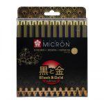 Sada výroční Pigma Micron Black - techn. fixy 12ks